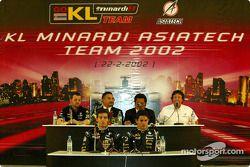 Conferencia de prensa con Alex Yoong, Mark Webber y Paul Stoddart