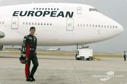 Mark Webber y el jetliner de European Aviation