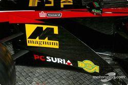 The new Minardi Asiatech PS02: close-up