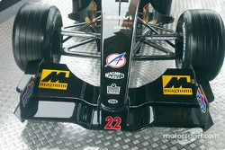The new Minardi Asiatech PS02: front wing
