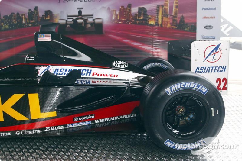 The new Minardi Asiatech PS02: rear end