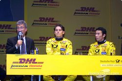 Questions et réponses avec Eddie Jordan, Giancarlo Fisichella et Takuma Sato