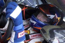 El ganador de la pole Ricky Craven