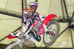 Ricky Carmichael broke his hand in Anaheim #1 and it is still healing
