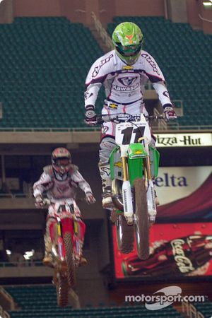 Ezra Lusk (lead) and Heath Voss (rear)