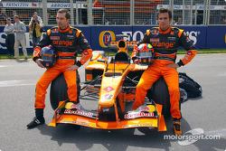 Official launch of the Arrows A23: Heinz-Harald Frentzen and Enrique Bernoldi