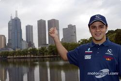 Felipe Massa en el centro de Melbourne