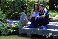 Visita al zoológico de Melbourne: Alex Yoong con su novia Arianna Teoh