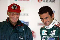 Niki Lauda et Pedro de la Rosa