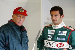Niki Lauda and Pedro de la Rosa