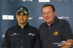 Día del piloto Compaq: Juan Pablo Montoya y Alan Jones