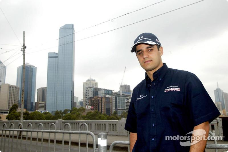Compaq driver day: Juan Pablo Montoya in downtown Melbourne