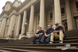 Journée Compaq : Sam Michael, Alan Jones, et Juan Pablo Montoya