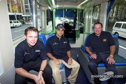 Día del piloto Compaq: Sam Michael, Juan Pablo Montoya y Alan Jones