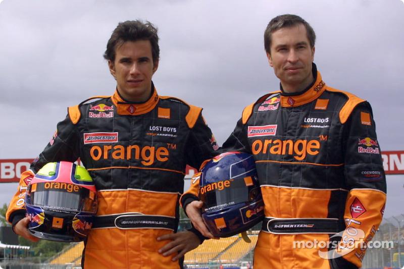 Official launch, Arrows A23: Enrique Bernoldi ve Heinz-Harald Frentzen