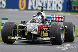 Paul Stoddart pilote la Minardi biplace