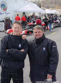 Panoz test driver Gunnar Jeannette with Wayne Jackson