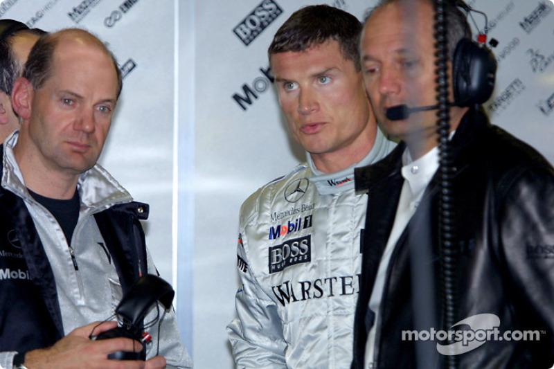 Adrian Newey, David Coulthard és Ron Dennis