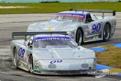 The Flis Motorsports Corvettes battle for position in the American GT class