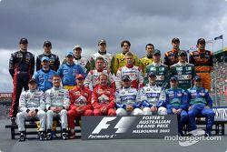Gruppenfoto aller Fahrer