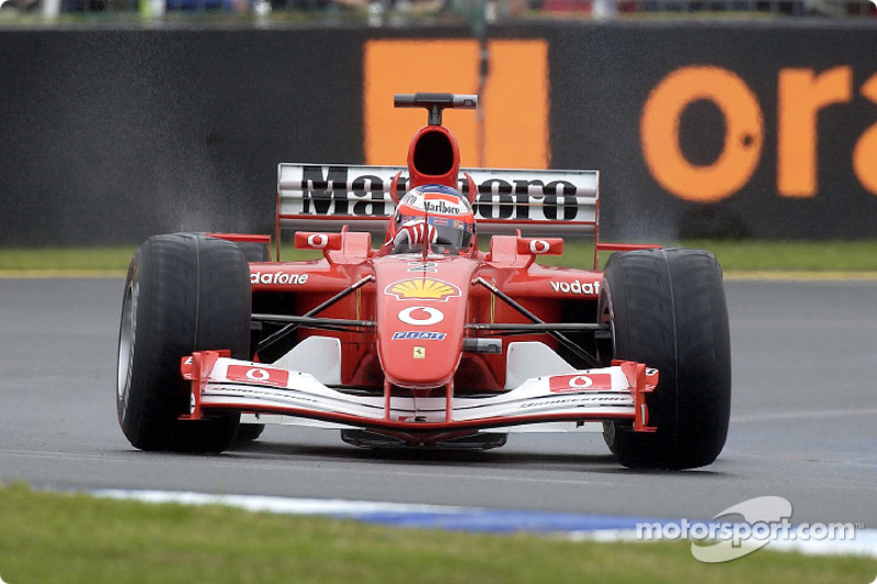 Qualifying: Rubens Barrichello holt im Vorjahres-Ferrari F2001 die Pole