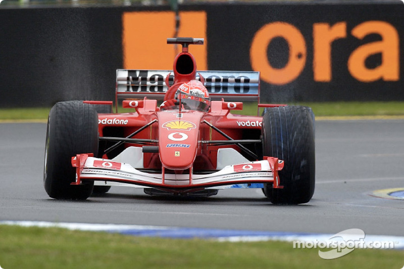 Michael Schumacher en la sesión matutina