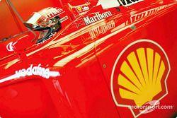 Michael Schumacher antes de la carrera