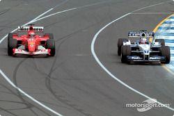 Michael Schumacher, Ferrari; Juan Pablo Montoya, Williams