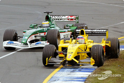 Battle between Takuma Sato and Pedro de la Rosa