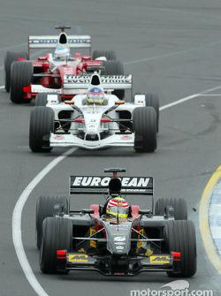 Alex Yoong, Minardi; Jacques Villeneuve. BAR; Mika Salo, Toyota