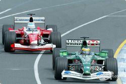 Pedro de la Rosa, Jaguar; Mika Salo, Toyota