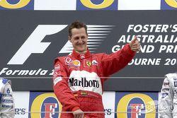 Podium: Sieger Michael Schumacher