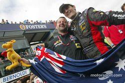 Mark Webber, Minardi, mit Paul Stoddart, Minardi, Teamchef