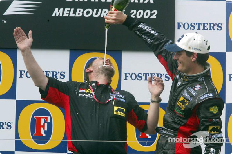 6. 2002: Champagne voor Minardi