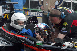 Paul Stoddart en el Minardi de dos asientos