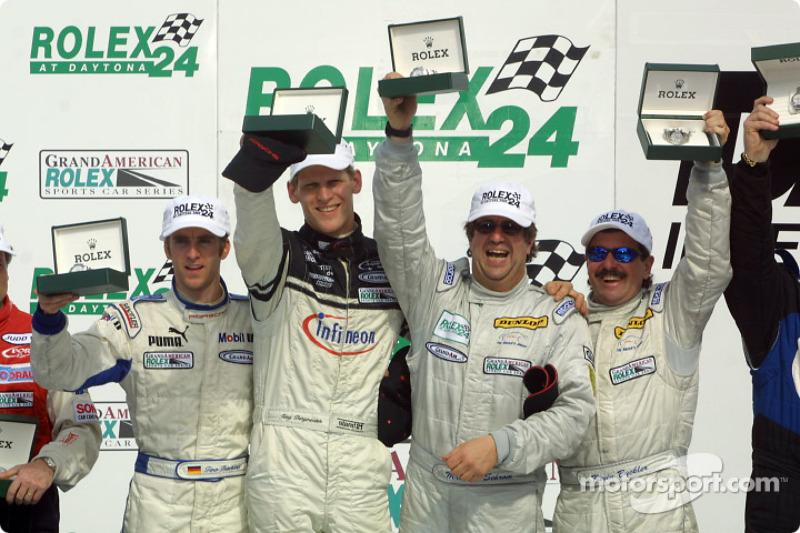 Timo Bernhard, Jorg Bergmeister, Michael Schrom and Kevin Buckler