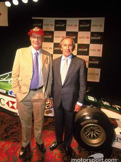 Niki Lauda y Jackie Stewart