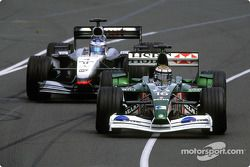 Eddie Irvine, Jaguar; Kimi Räikkönen, McLaren