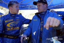 Petter Solberg et Tommi Makinen