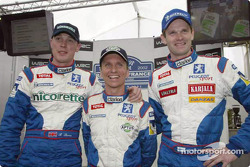 Richard Burns, Gilles Panizzi y Marcus Gronholm