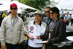 Jacques Villeneuve avec les groupes australiens Grinsppon et Living End