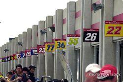 Área de garages del Atlanta Motor Speedway