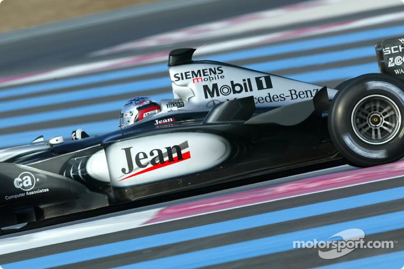 Jean Alesi, McLaren, 2002
