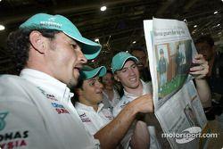 Visit, Kuala Lumpur newspaper printshop: Felipe Massa ve Nick Heidfeld