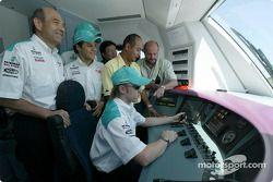 Visit, KLIA Ekspres trainset: Peter Sauber, Felipe Massa ve Nick Heidfeld