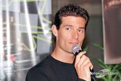 Sponsorship ceremony for Pan Global in Kuala Lumpur: Mark Webber