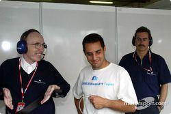 Frank Williams, Juan Pablo Montoya y el Dr. Mario Theissen