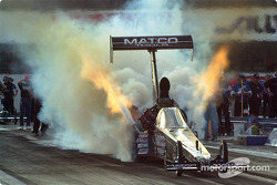 Big Daddy Don Garlits put on quite a show, however he failed to make a good run and could find himself out of the competition by Sunday