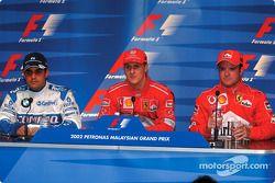 Conférence de presse : Juan Pablo Montoya, Michael Schumacher et Rubens Barrichello