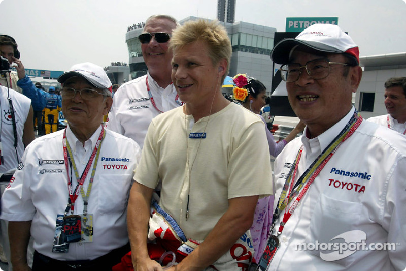 Mr Toyoda, Ove Andersson, Mika Salo and Mr Cho